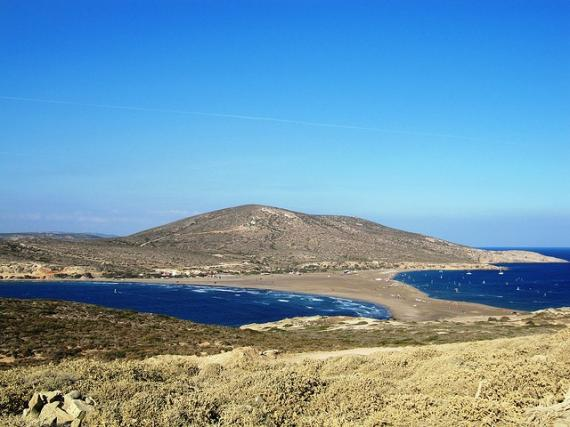 'Looking back from Prasonisi - Southern Tip of Rhodes' - Rhodos