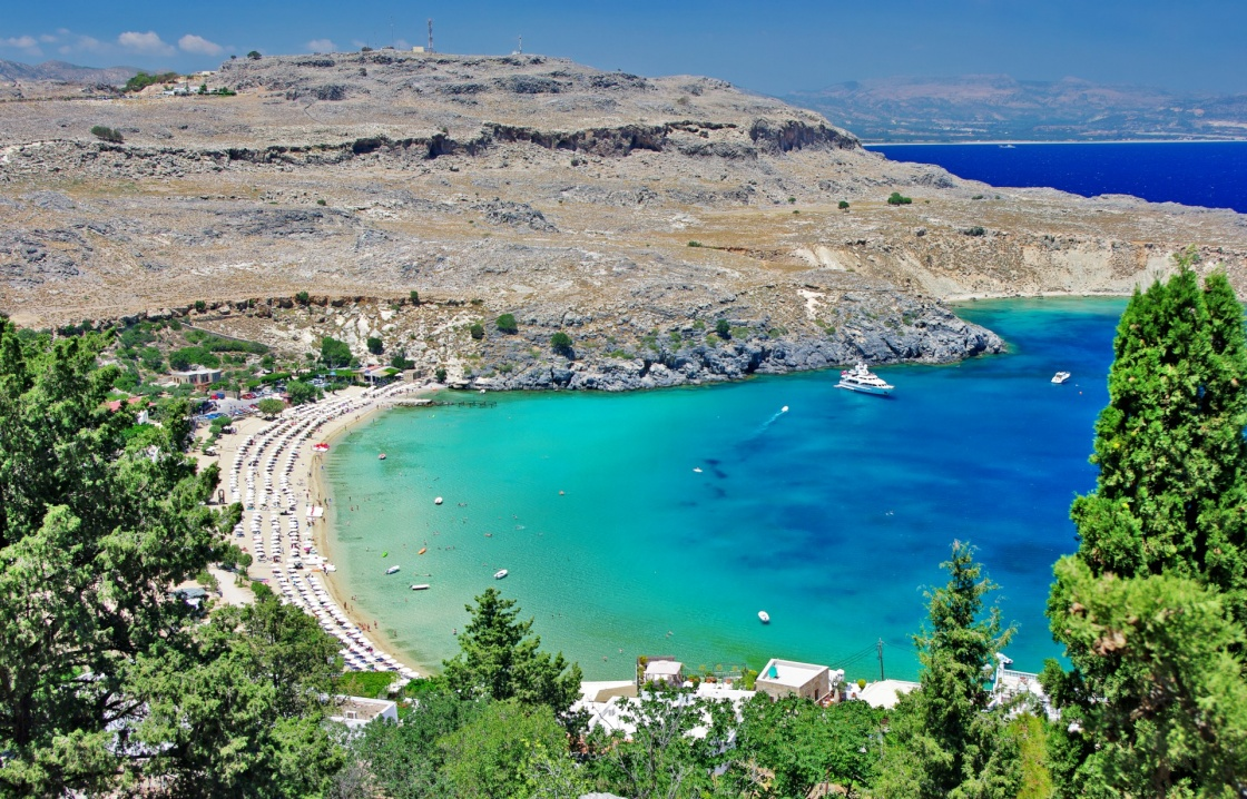 'travel in Greek islands series - Rhodes, Lindos bay' - Rhodos